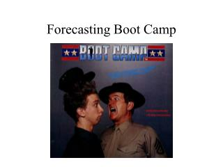 Forecasting Boot Camp