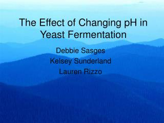 The Effect of Changing pH in Yeast Fermentation