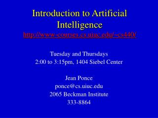 Introduction to Artificial Intelligence www-courses.cs.uiuc