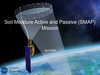 The NASA  Soil Moisture Active Passive  SMAP Mission:   Drought Monitoring
