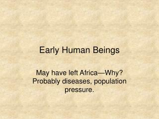 Early Human Beings
