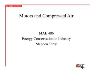 Motors and Compressed Air