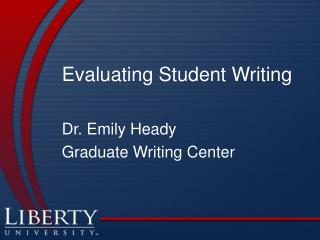 Evaluating Student Writing