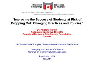 Improving the Success of Students at Risk of Dropping Out: Changing Practices and Policies