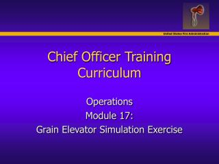 Chief Officer Training Curriculum