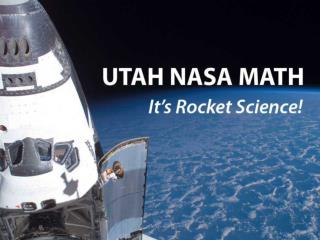 Utah s Math Future The NASA Math Plan