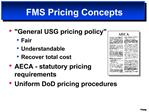 FMS Pricing Concepts