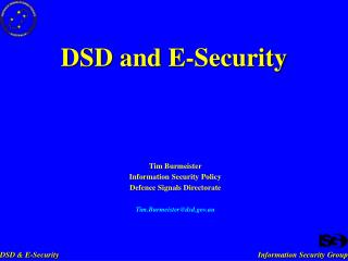 DSD and E-Security