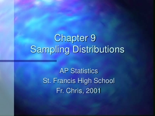 Sampling Distributions
