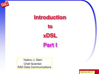 Introduction to xDSL  Part I