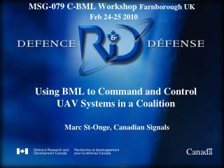 Using BML to Command and Control UAV Systems in a Coalition