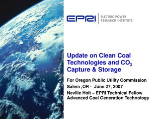 Update on Clean Coal Technologies and CO2 Capture  Storage