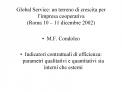 Global Service: un terreno di crescita per l impresa cooperativa Roma 10   11 dicembre 2002