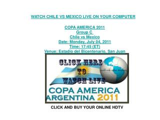 watch chile vs mexico live free stream copa america telecast
