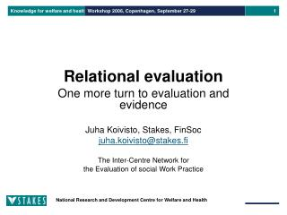 Relational evaluation