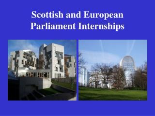 Scottish and European  Parliament Internships