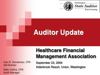 Auditor Update