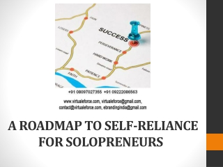 A ROADMAP TO SELF-RELIANCE FOR SOLOPRENEURS