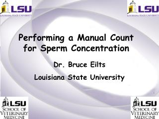 Performing a Manual Count for Sperm Concentration