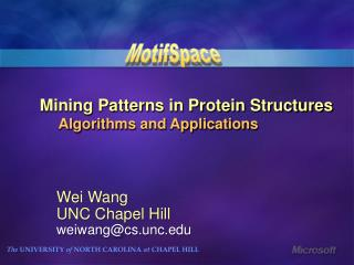 Mining Patterns in Protein Structures     Algorithms and Applications