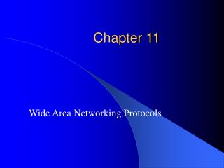 Wide Area Networking Protocols