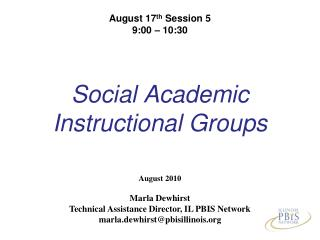 Social Academic  Instructional Groups