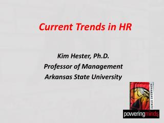 Current Trends in HR