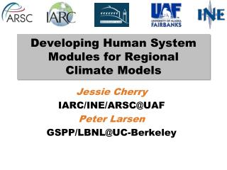 Developing Human System Modules for Regional  Climate Models