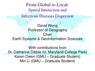 From Global to Local:  Spatial Interaction and  Infectious Diseases Dispersion