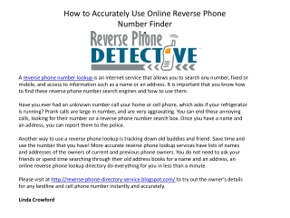 How to Accurately Use Online Reverse Phone Number Finder