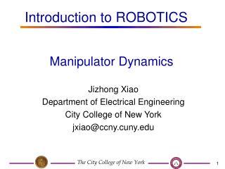 Manipulator Dynamics