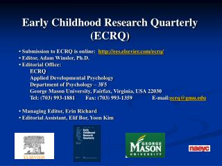 Early Childhood Research Quarterly  ECRQ