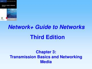 Chapter 3:   Transmission Basics and Networking Media