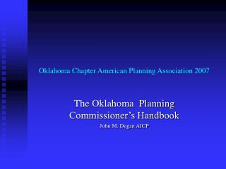 Oklahoma Chapter American Planning Association 2007