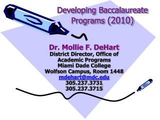 Developing Baccalaureate Programs 2010