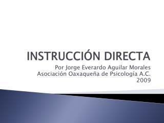 INSTRUCCI N DIRECTA