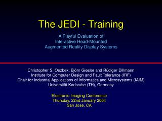 The JEDI - Training