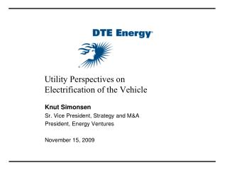 Utility Perspectives on  Electrification of the Vehicle