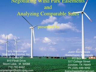 Negotiating Wind Park Easements  and Analyzing Comparable Sales   presented by