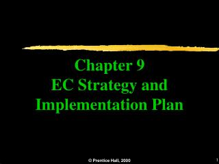 Chapter 9 EC Strategy and Implementation Plan
