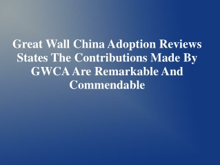 Great Wall China Adoption Reviews | Great Wall China Adoptio