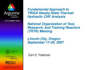 Fundamental Approach to TRIGA Steady-State Thermal-Hydraulic CHF Analysis  National Organization of Test, Research, and
