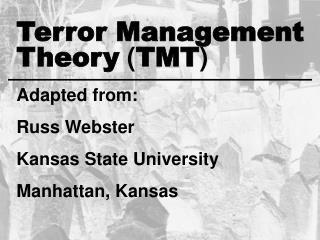 Theory TMT Adapted from:  Russ Webster Kansas State University Manhattan, Kansas