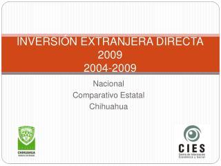 INVERSI N EXTRANJERA DIRECTA 2009 2004-2009