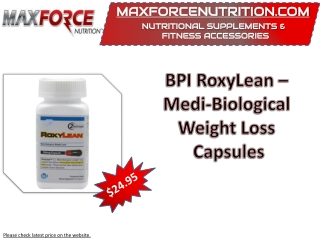 BPI RoxyLean – Medi-Biological Weight Loss Capsules