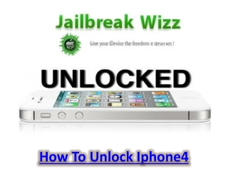 How To Unlock Iphone4