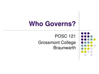Who Governs