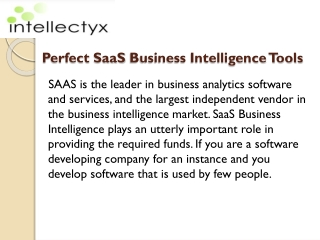 Perfect SaaS Business Intelligence Tools