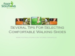 Tips For Selecting Comfortable Walking Shoes