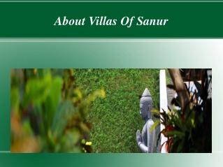 About Villas Of Sanur